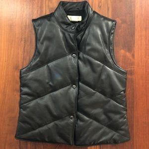Vntg. 🖤 J. CREW Leather, Puffer Vest